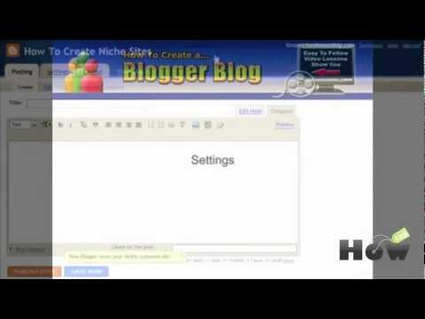 How to create a niche blog with Blogger