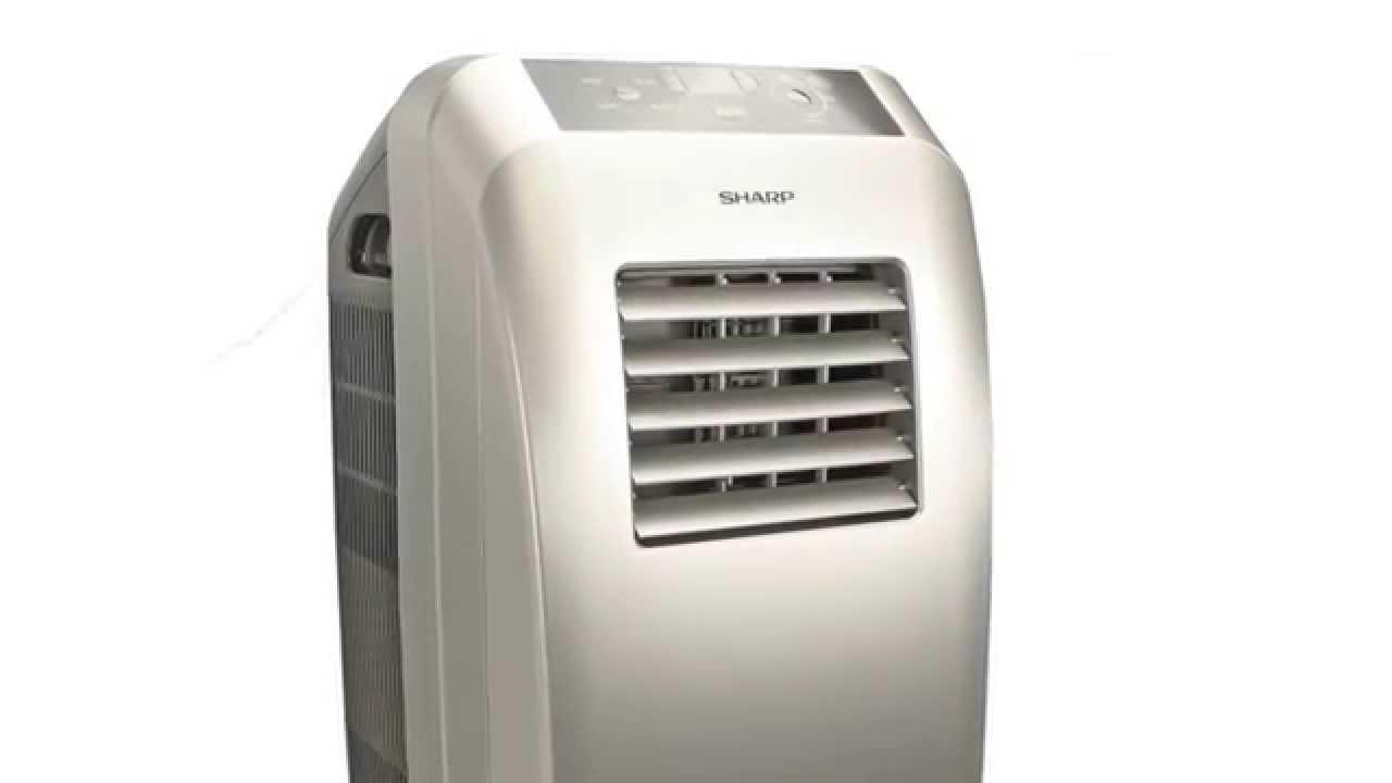 sharp portable air conditioner. sharp silver portable electric air conditioner (refurbished)   cv10ctx d