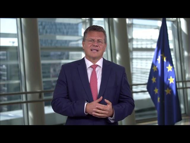 Zdravice Maroše Ševčoviče k otevření továrny MES