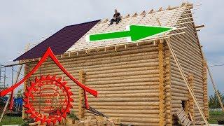 видео Крыша бани из профнастила: крепление и инструменты
