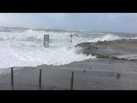 Tempête Eléanore à Berck sur Mer, le mercredi 03 janvier 2018....avec un coefficient de marée de 107