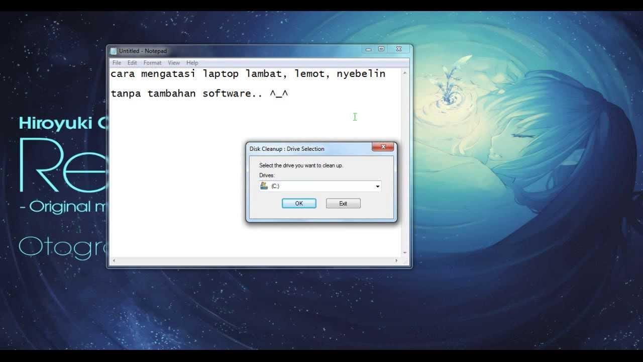 Cara Mengatasi Laptop Lambat Lemot Nyebelin Tanpa Software