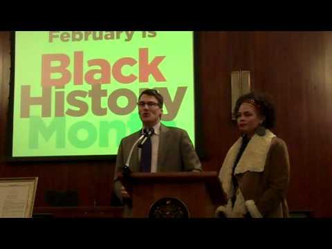 Mayor Gregor Robertson at Black History Month proclamation