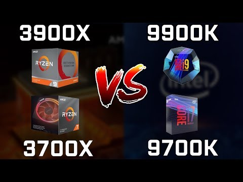 Ryzen 9 3900X vs Core i9-9900K vs Ryzen 7 3700X vs Core i7