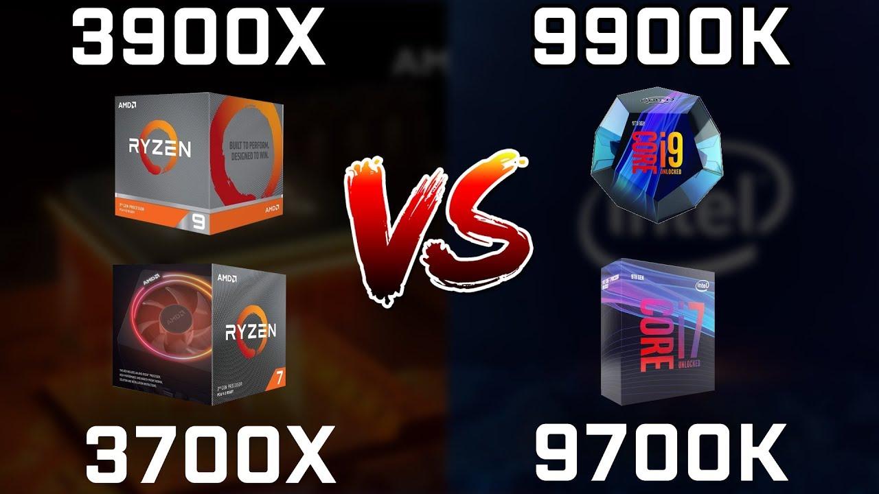 Ryzen 9 3900X vs Core i9-9900K vs Ryzen 7 3700X vs Core i7-9700K Real  Benchmarks!