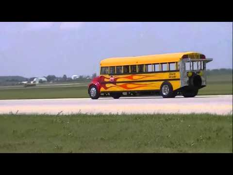2014 Waterloo Airshow/ Indy Boys Jet School Bus/ June 29, 2014/ Waterloo, Ontario