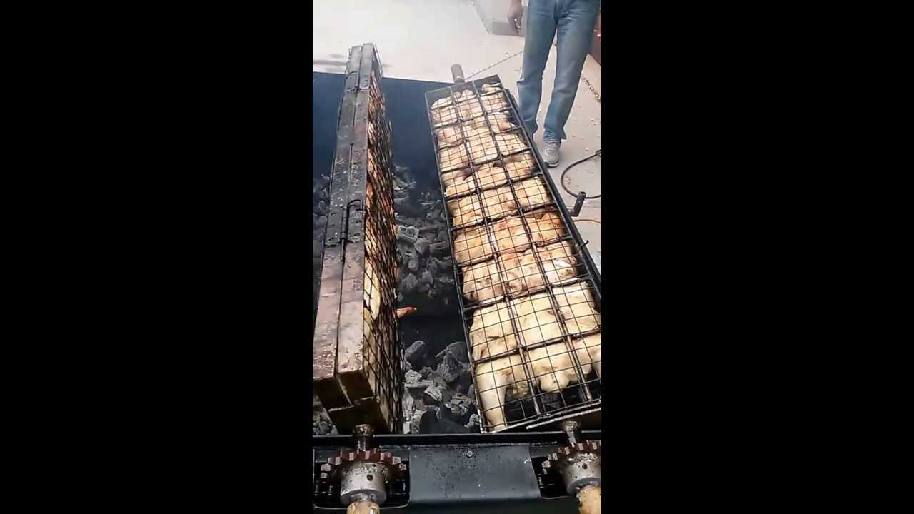Awesome Homemade Rotisserie Bbq Youtube