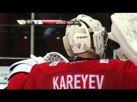 Первый гол Ильи Хохлова в КХЛ / Ilya Khokhlov first KHL goal
