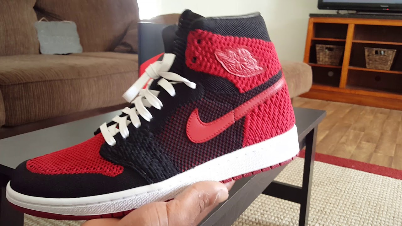 quality design 60ded b79fa Air Jordan 1 Retro High Flyknit (lace swap was a must!)