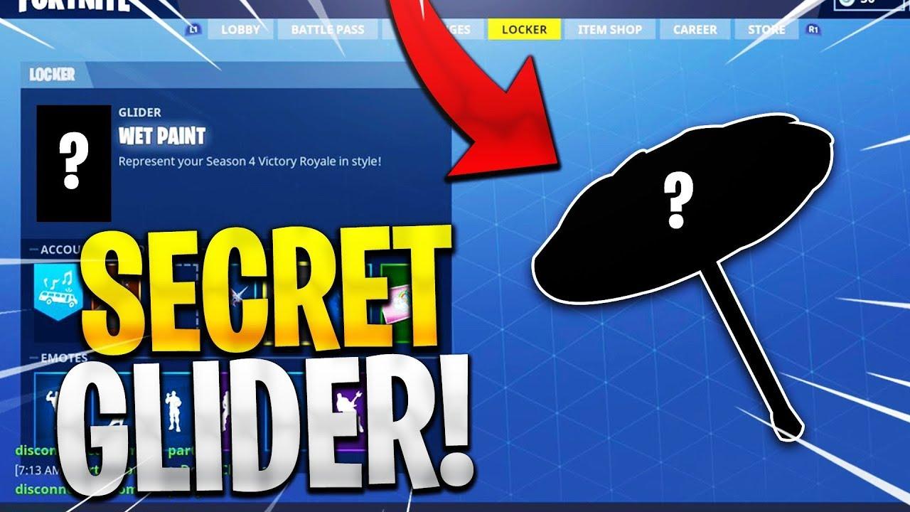 Unlocking Season 4 Secret Glider Fortnite Season 4 Hidden Glider