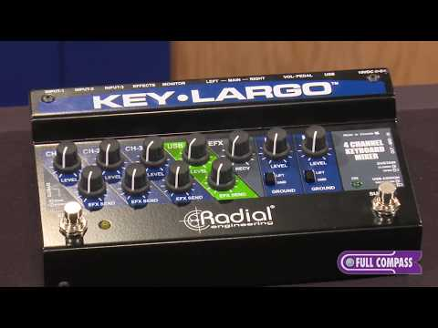 Radial Engineering Key-Largo Keyboard Mixer/Performance Pedal Overview | Full Compass
