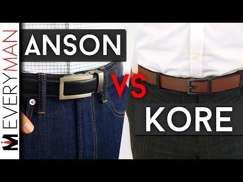 ANSON BELTS vs KORE ESSENTIALS | Which Belts are Best? Ratchet Belt Comparison Honest Reviews