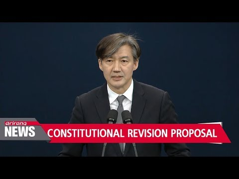 Blue House discloses part of gov't proposal for constitutional revision