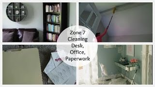 Clean with Me Office, Desk and Paperwork Zone Cleaning Routine