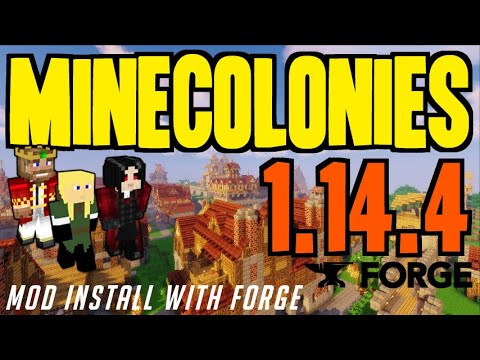 MINECOLONIES MOD 1.14.4 Minecraft - How To Download & Install Minecolonies 1.14.4 (with Forge)