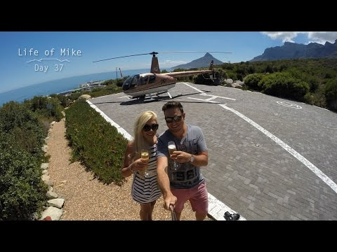 Day 37 - ROMANTIC HELICOPTER FLIP  { NAC Helicopters Cape Town }