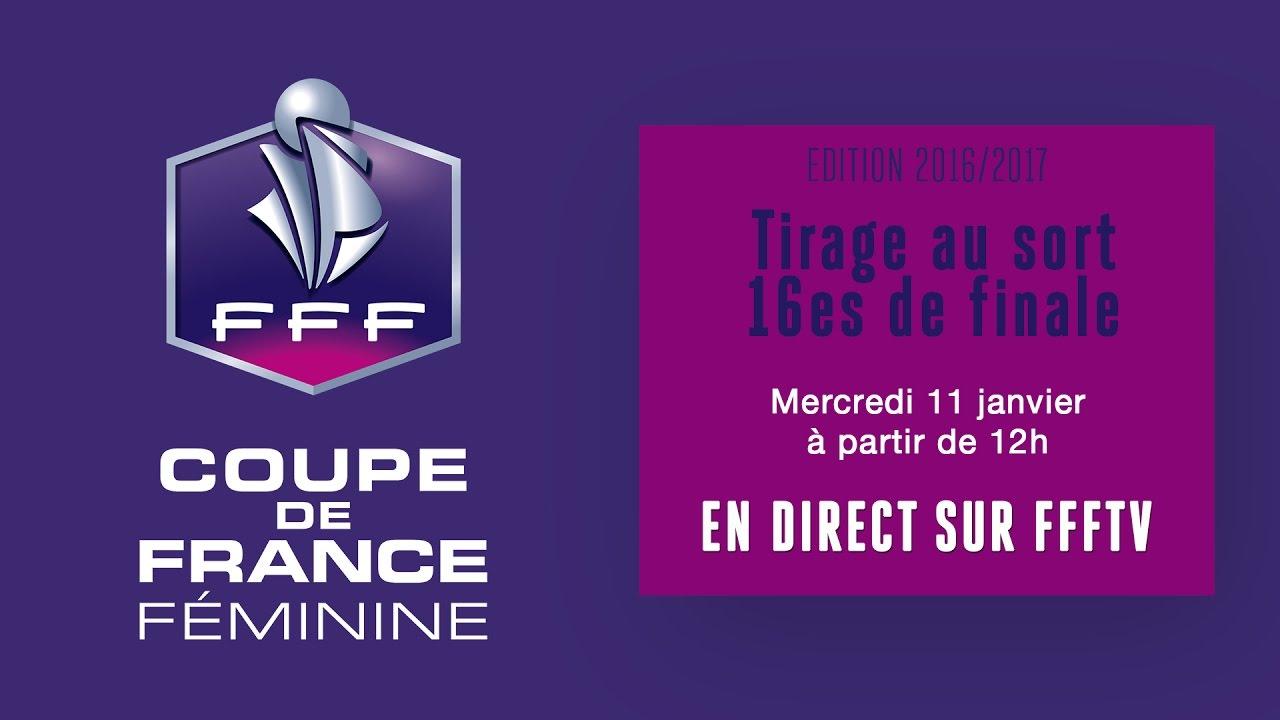 Coupe de france f minine tirage au sort des 16es de finale en direct youtube - Coupe de france tirage au sort en direct ...