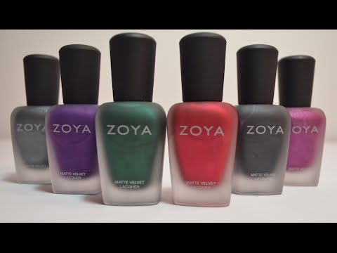 Zoya Matte Velvet Winter 2014 Swatch And Review
