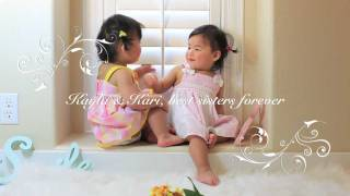 Twin babies talking to each other and THE Cutest Sweet Kiss