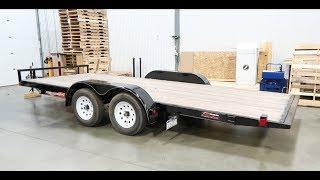 7x18 Tilt Car Trailer Winch and D Ring Installation