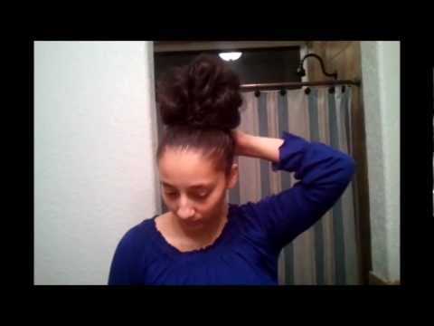 High Messy Bun Apostolic Hairstyles Youtube