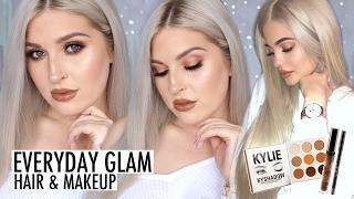 Everyday Glam Bronze Eyes Tutorial! 💕 KYLIE Bronze Palette & Brown Sugar Lip Kit 🍂