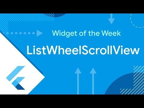 ListWheelScrollView (Flutter Widget of the Week)