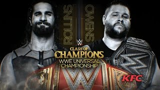WWE Clash of Champions Kevin Owens vs. Seth Rollins Universal Title 2K16 Gameplay