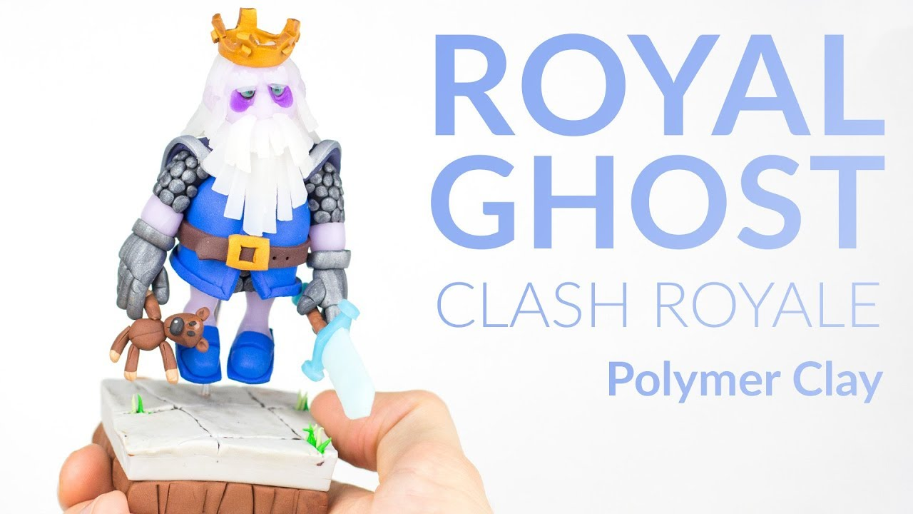 royal ghost clash royale polymer clay tutorial