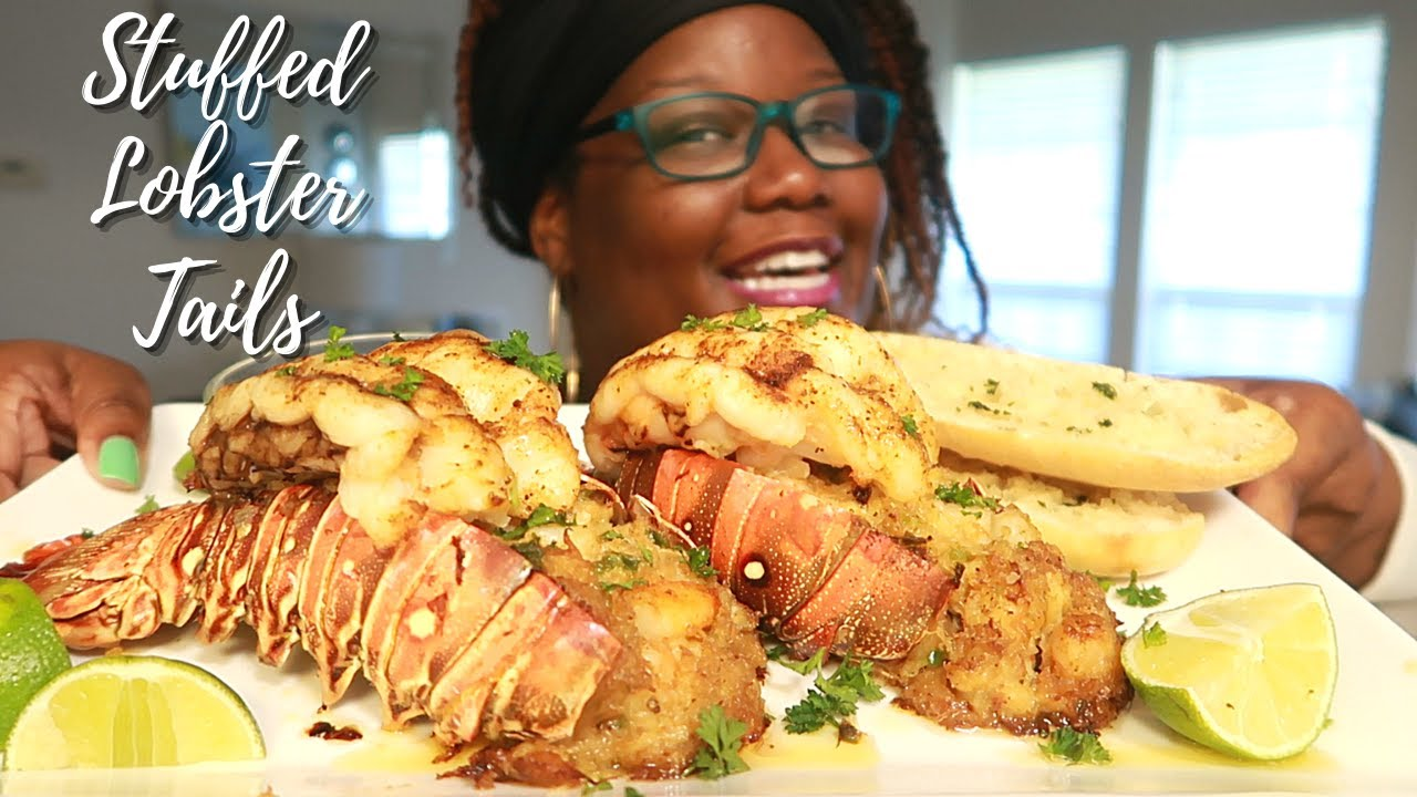 A MUST TRY! STUFFED LOBSTER TAILS RECIPE | Asmr 실제 요리 소리