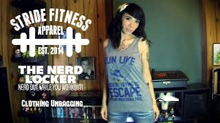 Stride Fitness Apparel Unbagging - Awesome Geek/Gamer tops!