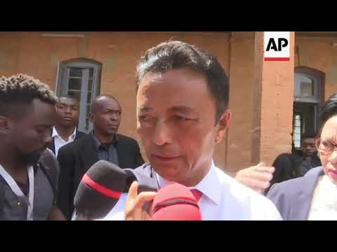 Ravalomanana votes in Madagascar presidnetial election