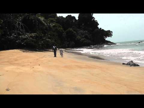 "Rocher du loup beach visit including a better view of the ""rocher"" or rock in the sea, kribi"