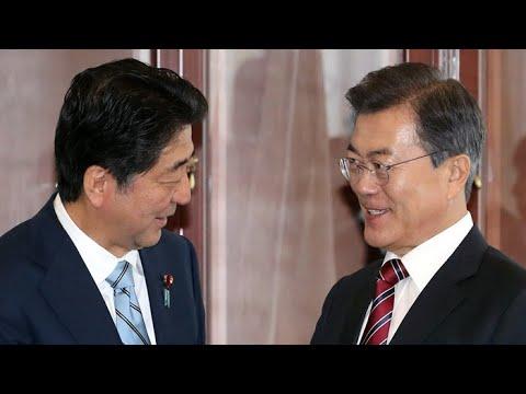 """문 대통령, 아베와 정상회담…""""대화보단 최대의 압박"""" / 연합뉴스TV (YonhapnewsTV)"""
