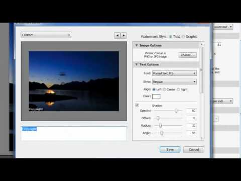 Adding a Watermark in Lightroom 3