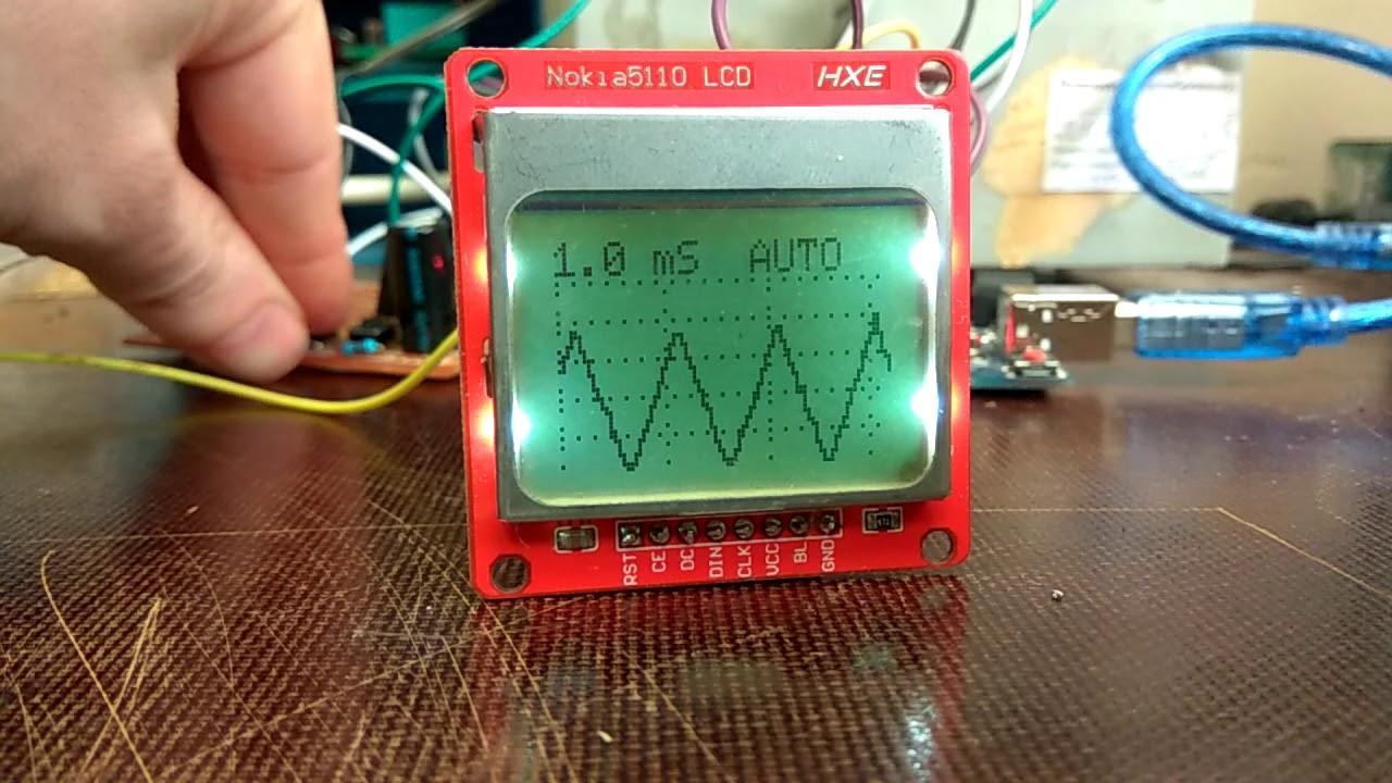 Простой осциллограф на Arduino Nano