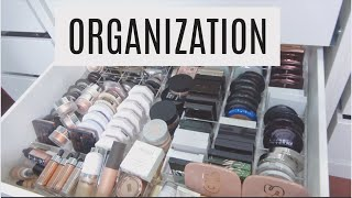 ORGANIZING MY MAKEUP  CATCHING A RAT | LAURA LEE