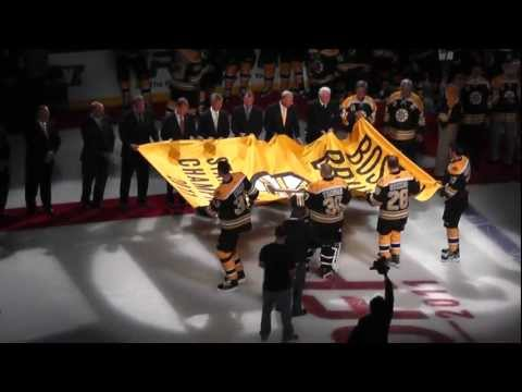 Boston Bruins Banner Raising - 2011 Stanley Cup Champions
