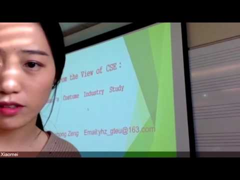 Sustainable Entrepreneurship of Zhuang's Clothing and Creative Industry Part 1
