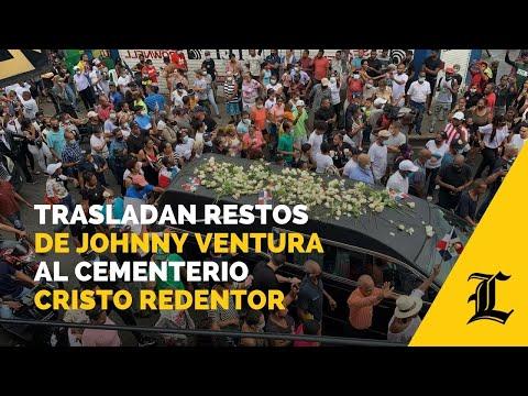 Trasladan restos de Johnny Ventura al cementerio Cristo Redentor