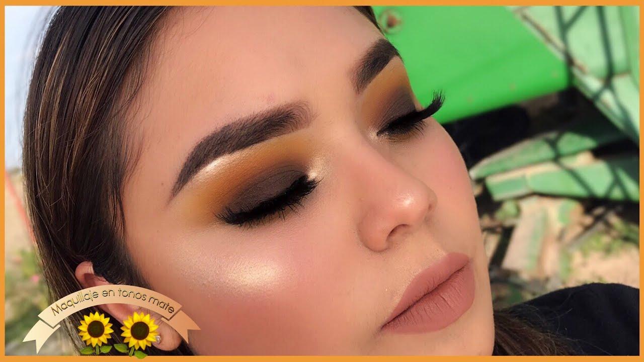 f2d7bff14 Tutorial de maquillaje para principiantes en colores mate | looks de ojos  en color amarillo