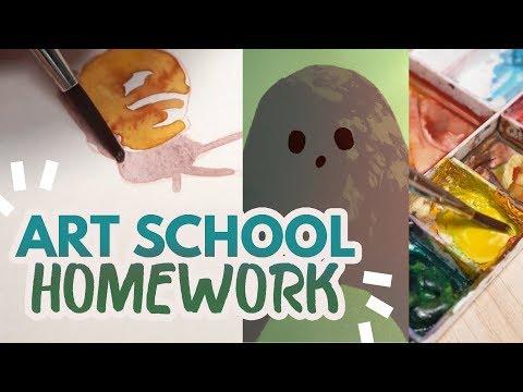 My Art School Homework - One Whole Week!