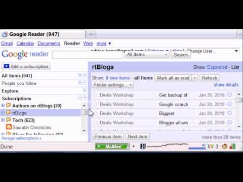 Create RSS Feed For Any Webpage With Google Reader