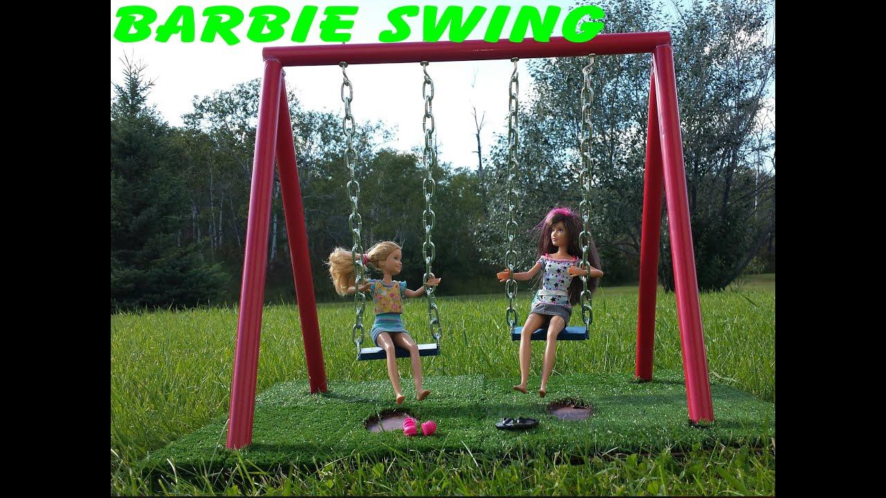 barbie how to make a swing youtube. Black Bedroom Furniture Sets. Home Design Ideas