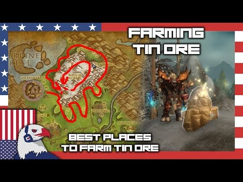 Tin Ore Farming Spot (Silver Ore Too!) - BFA Farming 8.15