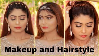 Wedding Reception Makeup and Hairstyle    Hair and Makeup Tutorial   Rinkal Soni