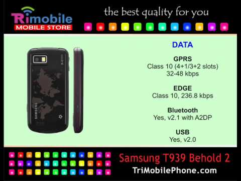 Samsung T939 Behold 2 Mobile Phone Specification, Features and Slide show