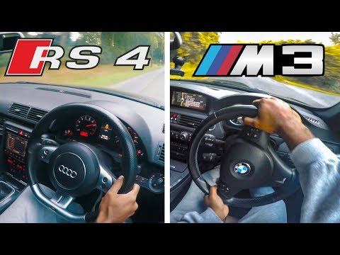 BMW M3 vs Audi RS4 | FAST!! Pov Drive
