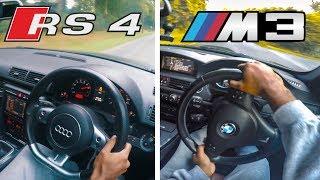 BMW M3 vs Audi RS4 | FAST!! Pov Drive