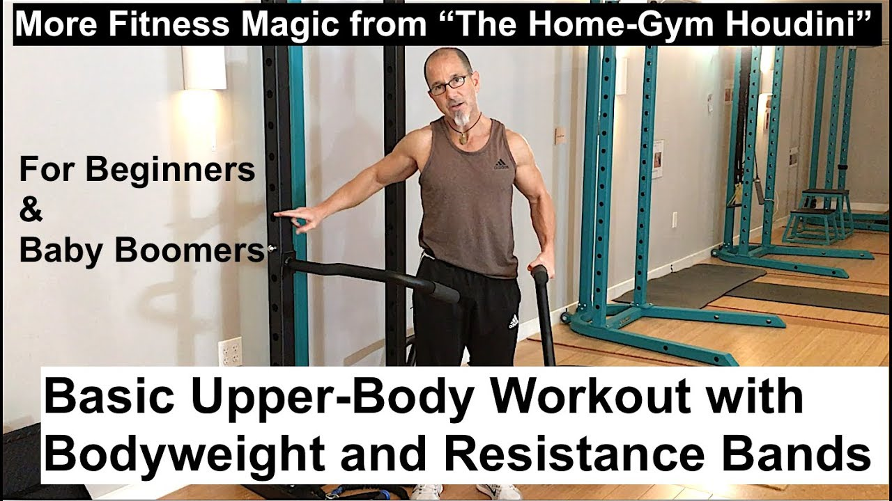 Basic total body workout and upper body workout for beginners